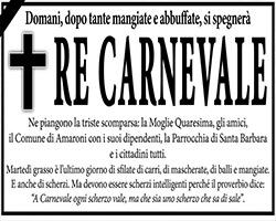 È muorto Carnavale!
