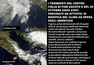 Anche il terremoto del 30 ottobre non è opera della natura